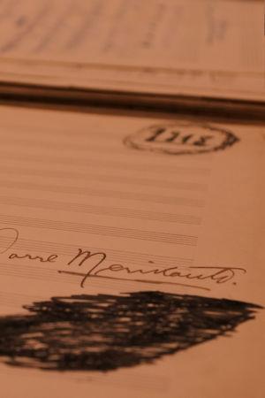 Aarre Merikanto sekä kirje vankilasta.