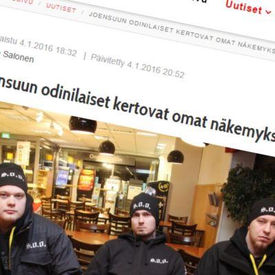 """Karjalan Heilin artikkeli """"Joensuun odinilaiset kertovat omat näkemyksensä""""."""