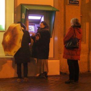 Bankauttomat i Kiev.