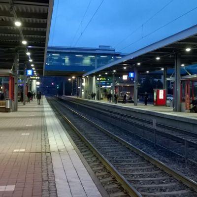 Esbo tågstation.
