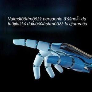 Kuvassa on teknologiavision kansikuva koltansaameksi käännettynä.