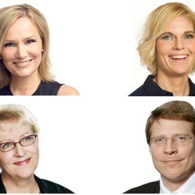 Laila Koskela, Markku Uusipaavalniemi, Merikukka Forsius ja Eija-Riitta Korhola
