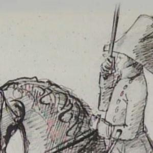 Kuvitusta Suome nsodasta 1800-luvulta.