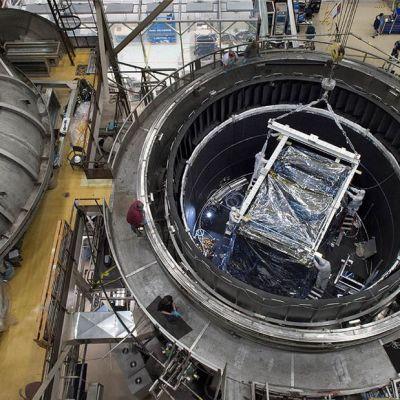 Nasan 22. lokakuuta 2014 jakama kuva James Webb -teleskoopin keskuksesta Greenbeltissä, Marylandissä.