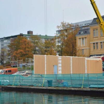 Kalastuksen talo alkaa rakentua Vaasassa.