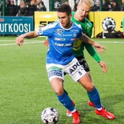 RoPSin Sergio Llamas Pardo ottelussa Kokkolan Pallo-Veikkoja vastaan 28.6.2019 Rovaniemellä.