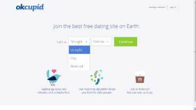 Dating site mobiilisovellus
