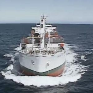 Rahtilaiva merellä.