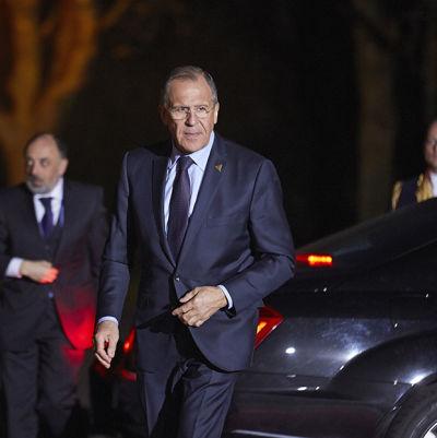 Sergej Lavrov i Haag den 24 mars.