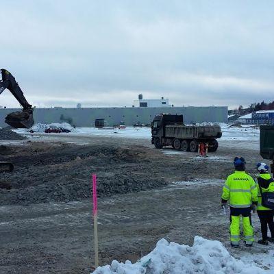Kauppakeskus Sepän rakentaminen alkoi alkuvuodesta 2016.
