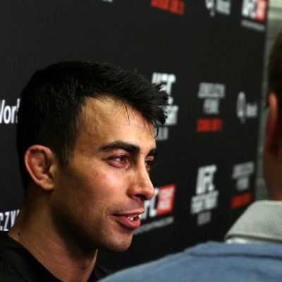 Makwan Amirkhani Berliinin UFC-illan jälkeen haastattelussa