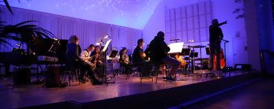 Kymi sinfoniettas generalrepetition i konserthuset i Kotka.