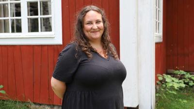 Ida Ridberg vid Pargas hembygdsmuseum
