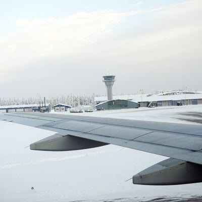 Kittilän lentoasema 6. helmikuuta 2012.
