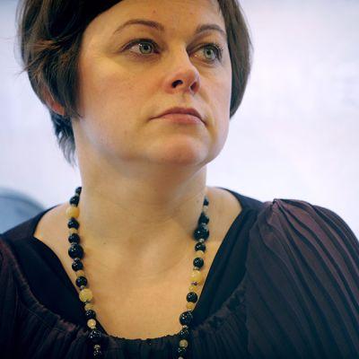 Paula Lehtomäki maaliskuussa 2013.
