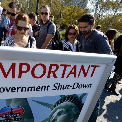 Myös mm. New Yorkin Vapauden patsas on suljettu hallituksen sulkemisen vuoksi.