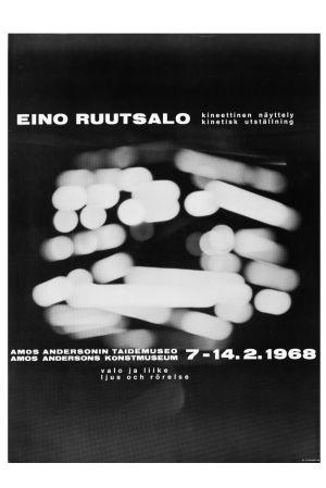 Eino Ruutsalon näyttelyn juliste vuodelta 1968