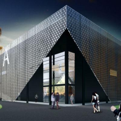 Vision om hur den nya arenan i Sandviken kommer att se ut.