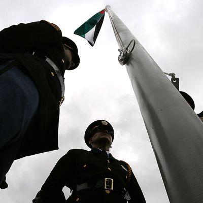 Palestiinan lippu nostettiin ensimmäistä kertaa YK:n lipputangon salkoon New Yorkissa 30. syyskuuta.