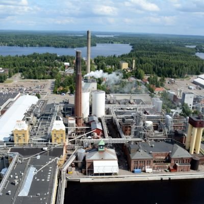 Stora Enson tehdasalue Varkaudessa.