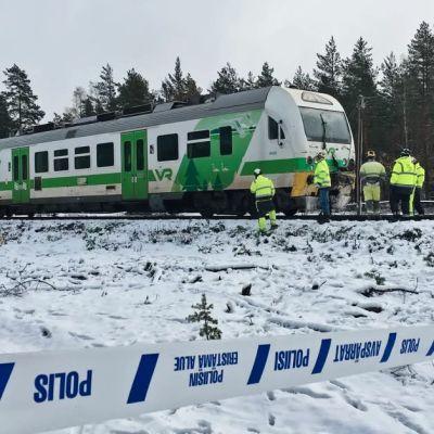 Bild från olycksplats i Raseborg.