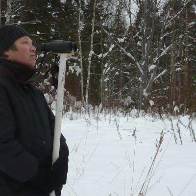 Hämeenlinnalainen luonto-opettaja ja -harrastaja Panu Villanen