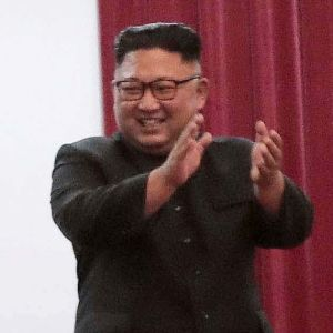 Moon Jae-in och Kim Jong-un.