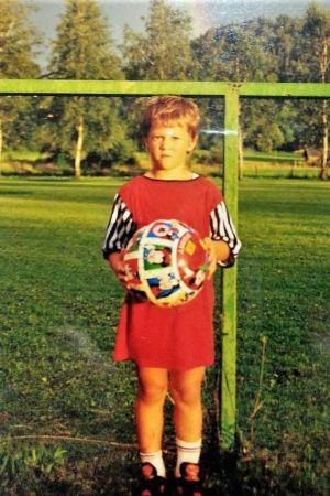 Filip Valencic som barn.