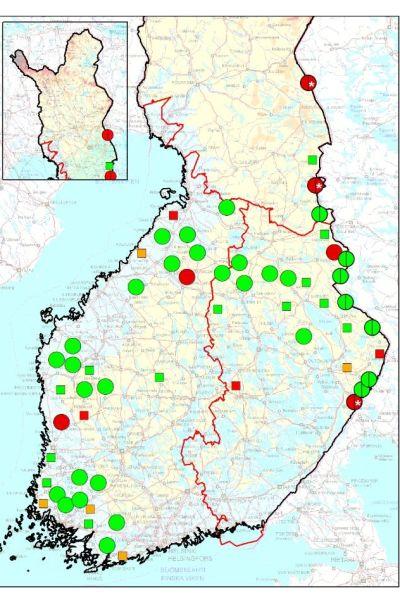 Vargbeståndet i Finland mars 2021