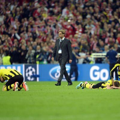 Dortmund-leirin ilta päättyi katkeraan pettymykseen, keskellä päävalmentaja Jürgen Klopp.