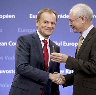 Donald Tusk och Herman van Rompuy.