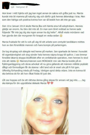 """Inlägget om """"Marcia Karlsson"""""""