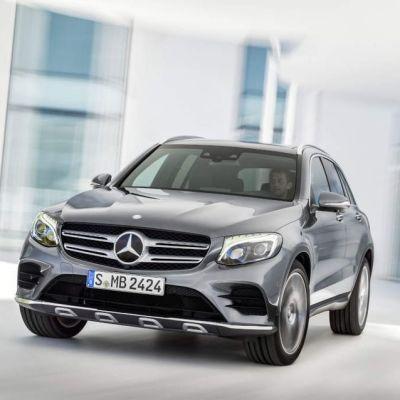 Mercedes Benz GLC som ska tillverkas på bilfabriken i Nystad.