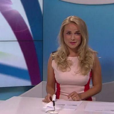 Eva Brunell presenterar nyheterna i Tv-nytt.