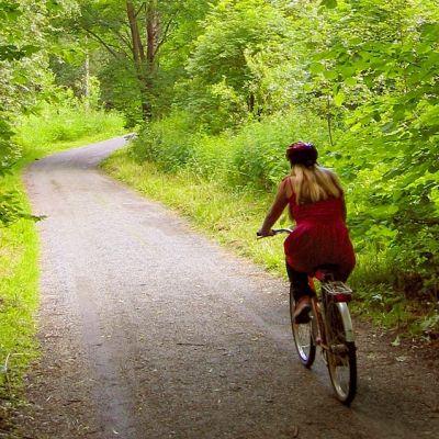 Ung cyklist.