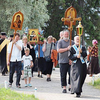 Ortodoksinen ristikulkue.