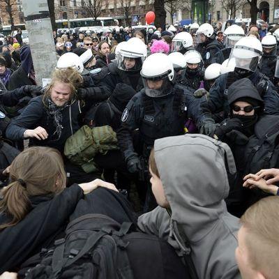 Första maj-demonstration