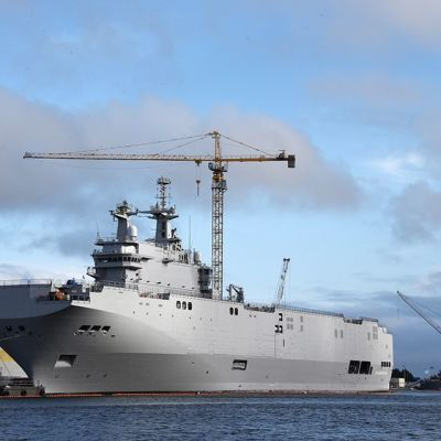 Mistral-alus kuvattuna Ranskan Saint-Nazairessa.