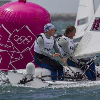 Joonas ja Niklas Lindgren vesillä Lontoon olympialaisissa.
