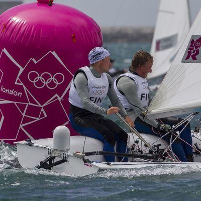 Joonas ja Niklas Lindgren Lontoon olympialaisissa.
