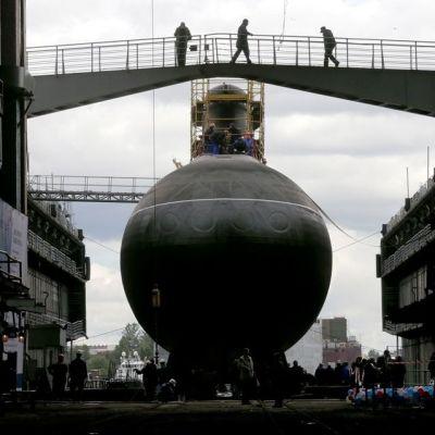 Venäläinen sukellusvene Rostov-on-Don Pietarin telakalla 26. kesäkuuta 2014.