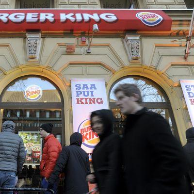 Burger Kingin edusta.