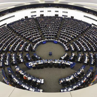 Laajakuva Euroopan parlamentista.