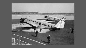 Flygplanet Kaleva som sköts ned över Finska viken 1940.