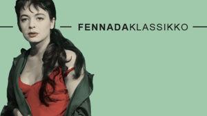 Markkinointikuva Fennada-klassikosta, nainen vihreällä taustalla