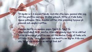 Berith Ljungström skänker bort julfirande
