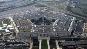 Pentagon-byggnaden i USA.