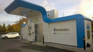 Woikoskis tankstation när den ännu var i bruk.