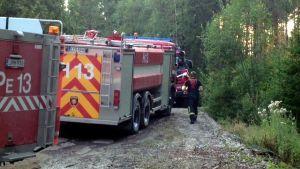 Skogsbrand i Brokärr på Kimitoön