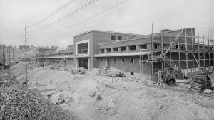 Slakteriet i nuvadande Fiskehamnen byggs, 1932.